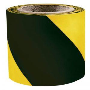 Signalna zebra traka žuto/crna 7 cm x 100 m