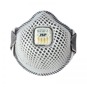 FFP2 823 okrugla, sa mrežicom, aktivnim ugljem i ventilom