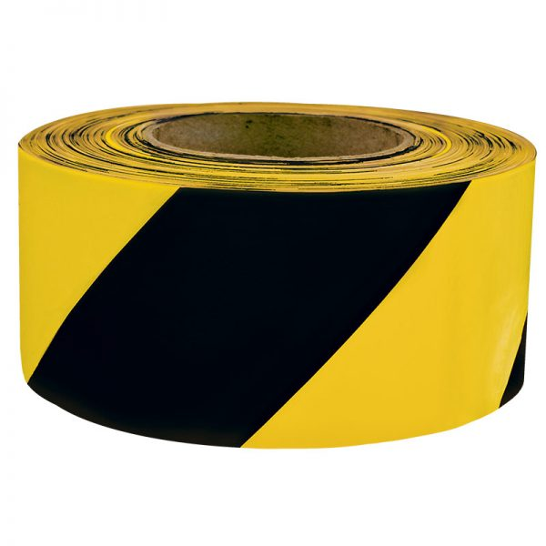 Signalna zebra traka žuto/crna 7 cm x 500 m